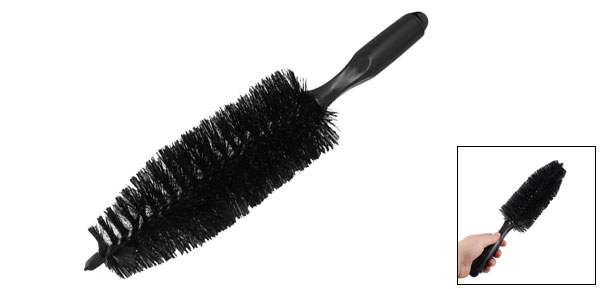"""Wheel Tire Black Tapered Brush Wash Cleaning Tool 14 2"""" Long"""