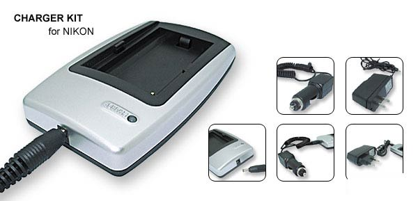 EU US Plug 100-240V Camera Battery Charger for Nikon EN-EL3 White