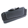 Belt Nylon Plastic Case with Belt Clip - Black for Motorola L7 L6