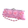 "Fashion Pink Rose Clutch Purse Bag ""Roma..."