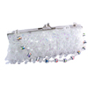 "Fashion Chic White Crystal Purse Bag ""Ro..."