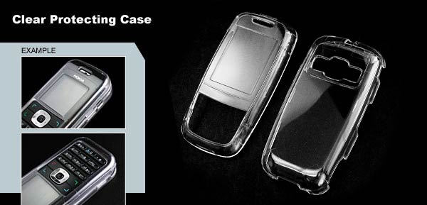 Clear Plastic Case for Samsung D600