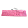 Pink Mini Flexible Desktop Computer Keyboard