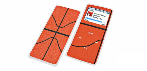 Protective Sticker Skin for Ipod Nano - Action Basket Design
