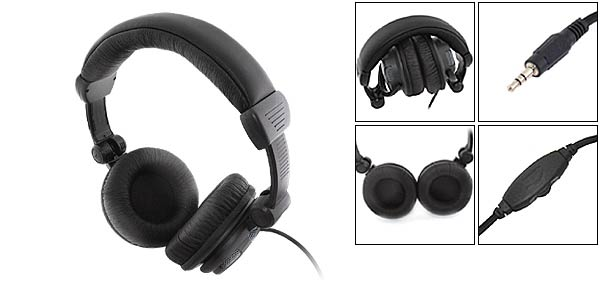 Voulme - Adjustable Stereo Full Sized Headphone Set 3.5mm Plug