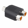 Mini Female RCA Plug to dual RCA Jacks Splitter Adapter
