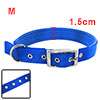 Tropical Blue Soft Leather High Strength Nylon Dog Collar Strap -...