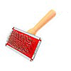Wooden Handle Dog and Cat Pet Bristles Grooming Brush
