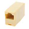 RJ45 CAT 5 Plug Connector Joiner  Light Yellow