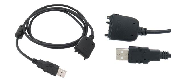 4Ft USB2.0 Data Cable & Sync Charger for Palmone Treo 650 - Black