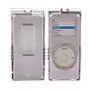 Crystal Hard Case Holder w/ Cord for iPod Nano  Gray