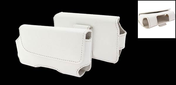 Leather Case Pouch Holder for Palm One Treo 650/700 - White