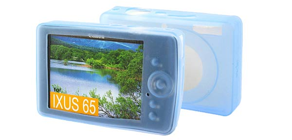Silicone Skin Case for Canon IXUS 65 SD630 - Blue