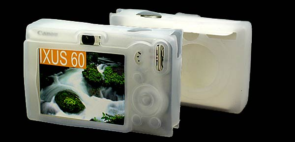Silicone Skin Case for Canon IXUS 60  Clear White