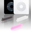 3 PCS Silicone Caps for iPod Video/Mini/Photo  Black/Pink/Clear W...