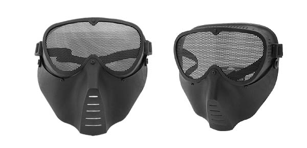 Airsoft Face Guard Mesh Tactical Mask Goggles Army Black