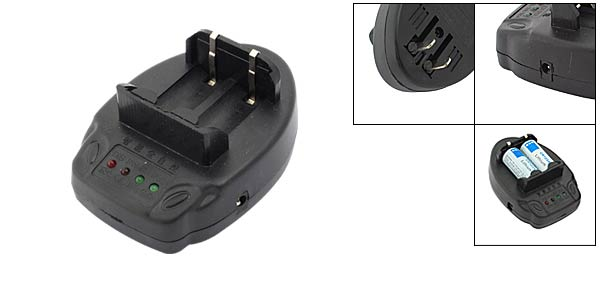 Cradle Charger for CR123A Battery Camera/Torch Battery - Black