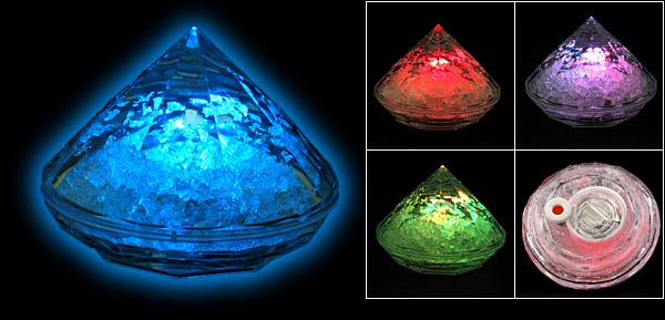 Color Changing Psychedelic Spiritual Energy Crystal Pyramid Flash Light  Clear White