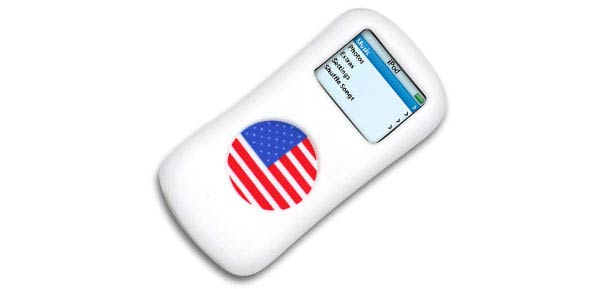 NEW US America American Silicone Skin Case for iPod Nano ***/