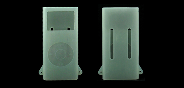 Silicon Skin Case for iPod Nano 2G - Clear Green/