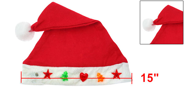X'mas Christmas Cotton Cloth Velvet Heart Tree Santa Claus Hat Cap