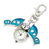 Mini Key Ring Butterfly Quartz Watch Clock- Blue