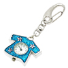 Mini Key Ring Skirt Quartz Watch Clock- Blue