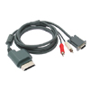 VGA HDAV 2 RCA Audio Video Cable Cord Wire High Definition AV for Xbox 360 Gray