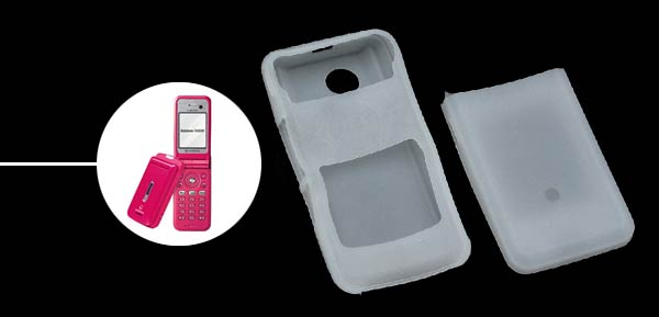 Silicone Skin Case for Sharp V903/903/SX833 - Clear