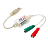 USB 2.0 Music Audio Cable to Dual 3.5mm w/ 5.1 Channel 3D Sound C...