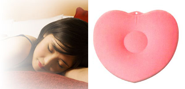 Air Inflatable Loving Heart Back Support Cushion Pillow-Pink