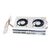 New Silver Tone 3.5 SATA IDE Hard Disk Drive HDD 2 Fan Cooler for...
