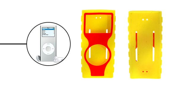 Silicone Skin for New Generation iPod Nano Yellow-red