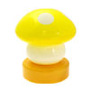 Yellow Mushroom Head Press Down Desk Lamp Light