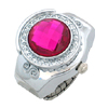 Fashion Rose Pink Simulated Diamond Ring Jewelry Watches