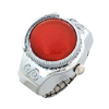 Fashion Jewelry Crimson Red Simulated Crystal  Ring Watch
