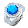 Turquoise Blue Simulated Crystal Diamond Ring Jewelry Watches Qua...