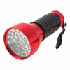 28 LED Bulks Aluminum Alloy Bright Light Torch Flashlights - Red