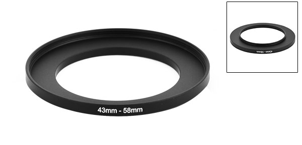 Camera Lens Filter Step Up Ring 43mm-58mm Adapter Black New