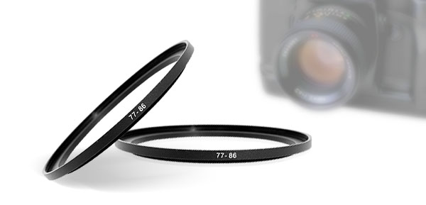 Camera Lens Filter Step Up Ring 77mm-86mm Adapter