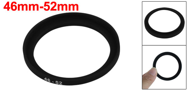 Household Office Camera Lens Filter Step Up Ring 46mm-52mm Adapter Black