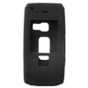 Silicone Skin Case for Nokia N72 - Black