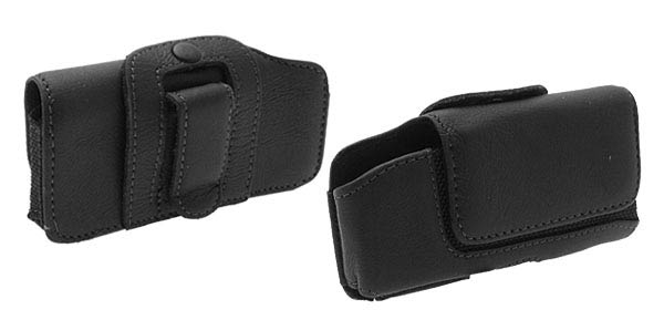 Leather Case Holder for Motorola L7 Black