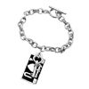 Open Your Heart Love Key Pendant Silver Plated Bracelet