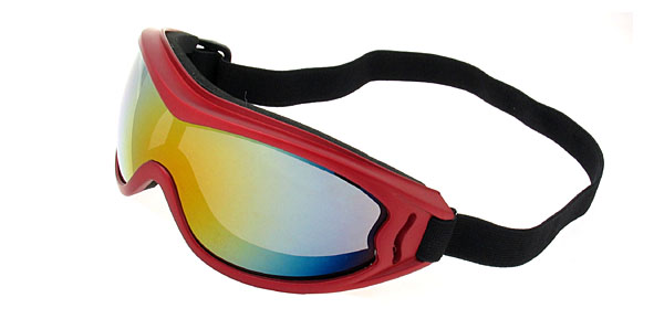Ski Snowboard Skate Sports Goggles  Glasses (Red Frame + Color coated Lens) -NV122***/