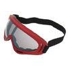 Tinted Lens Red Frame Ski Snowboard Goggles Sports Glasses