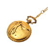 Classical Elegant Engraved Golf Player Men's Pocket Watch-Golden