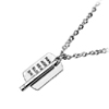 Cool Metallic Tag Long Silvery Stick Word Necklace