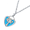 Wild at Heart Crystal Beads Necklace Jewelry Watches Silver Blue