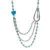 Pastel Blue Simulated Pearls Strands Strings Necklace